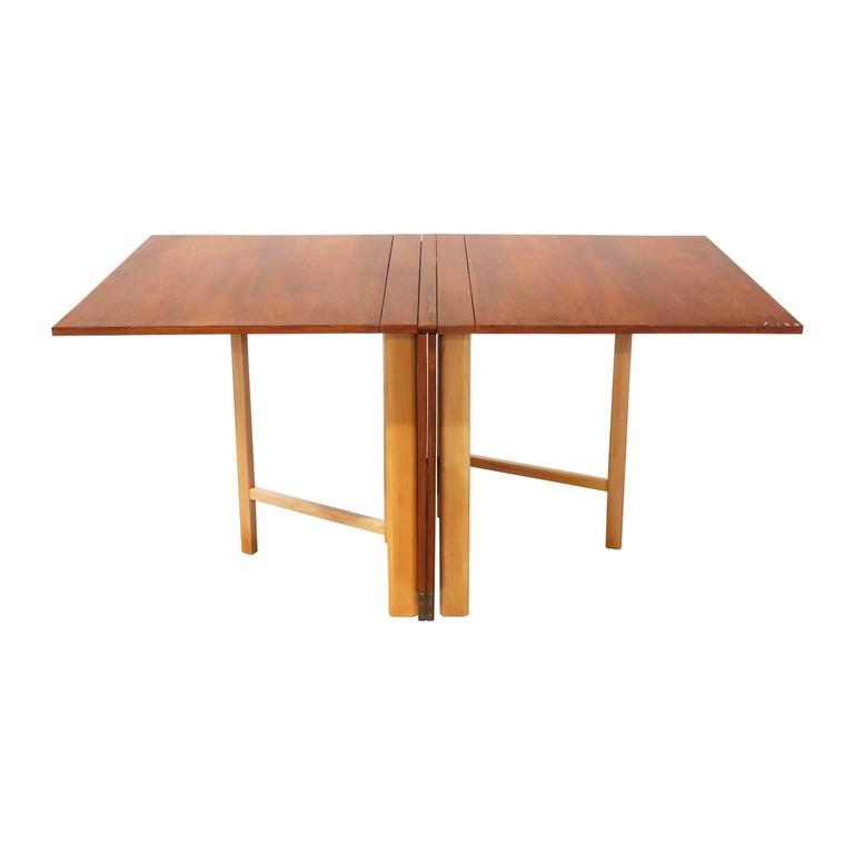 "Mid-20th Century Bruno Mathsson ""Maria Flap"" Dining Table for Karl Mathsson For Sale"