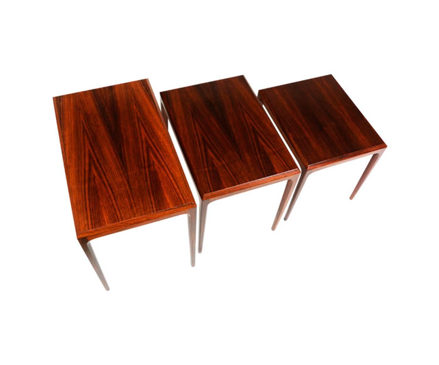 Johannes Andersen Rosewood Nesting Tables for CFC