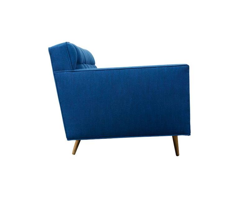 Edward J. Wormley Model-5136 Sofa with Brass Legs for Dunbar 4