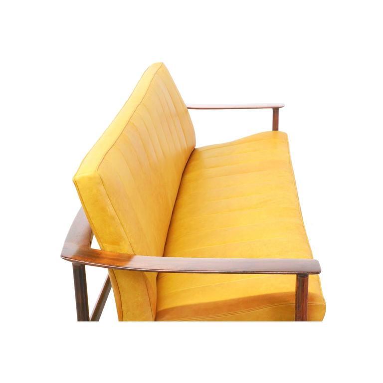 Sven Ivar Dysthe Rosewood and Leather Sofa for Dokka Mobler 7