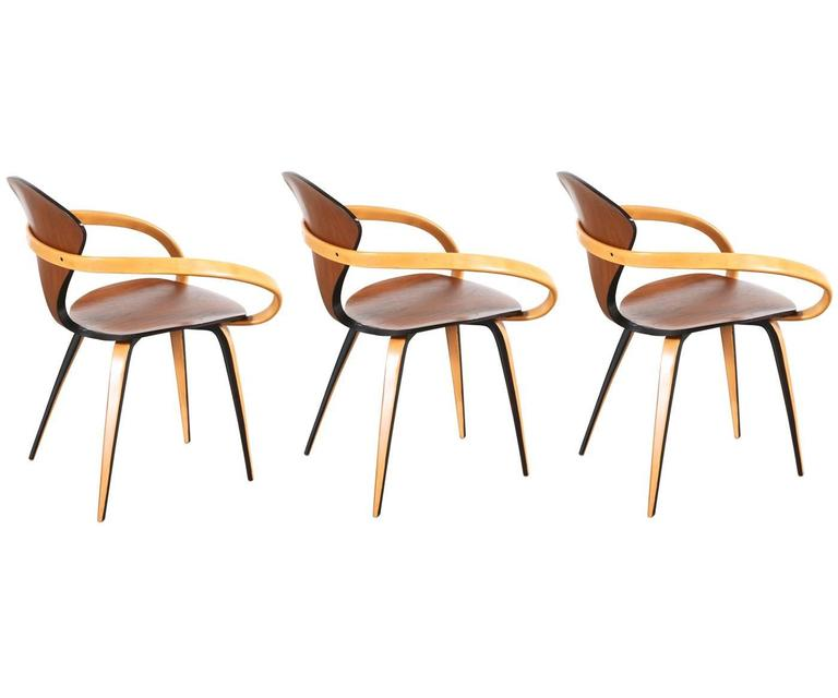 norman cherner molded plywood armchair for plycraft 2