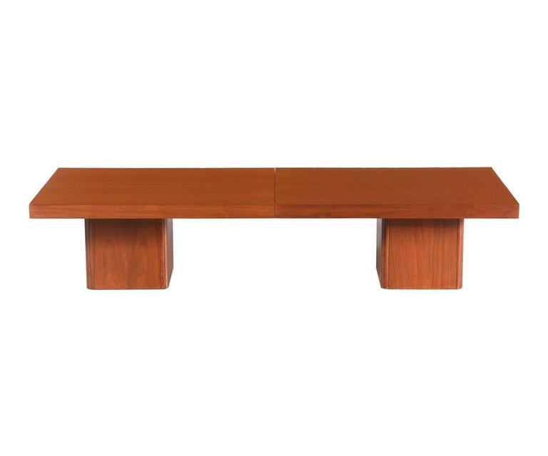John Keal Expanding Walnut Coffee Table For Brown Saltman For Sale At 1stdibs
