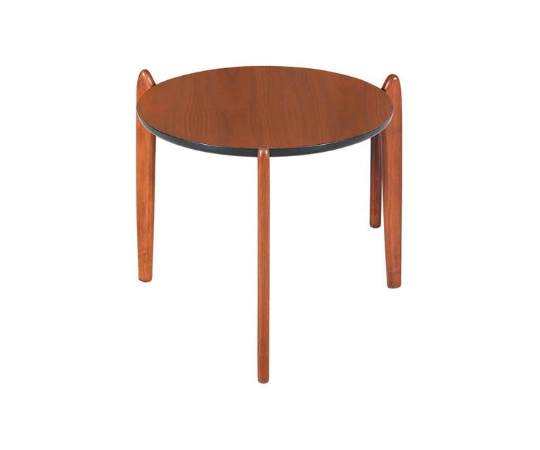 Designer: Adrian Pearsall. Manufacturer: Craft Associates. Period/Style: Mid-Century Modern. Country: United States. Date: 1950s.  Dimensions: 16.5″ H x 17.5″ D. Materials: Walnut. Condition: Excellent – Newly Refinished. Number of Items: