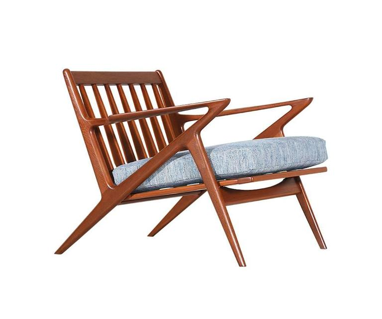 Poul Jensen Teak Z Lounge Chairs For Selig For Sale At 1stdibs