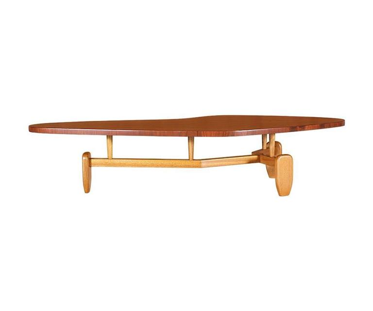"""Mid Century Coffee Table John Keal For Brown Saltman At: John Keal """"Outrigger"""" Floating Top Coffee Table For Brown"""