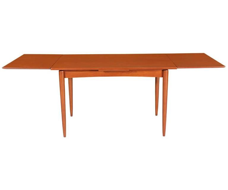 Danish Modern Expanding Draw Leaf Dining Table For Sale At