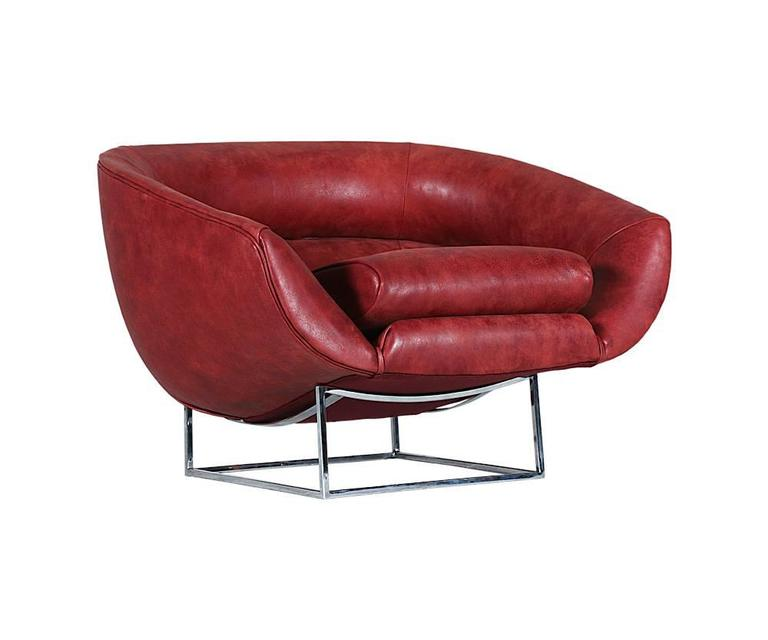 Milo Baughman Leather and Chrome Tub Chair for Thayer Coggin 6