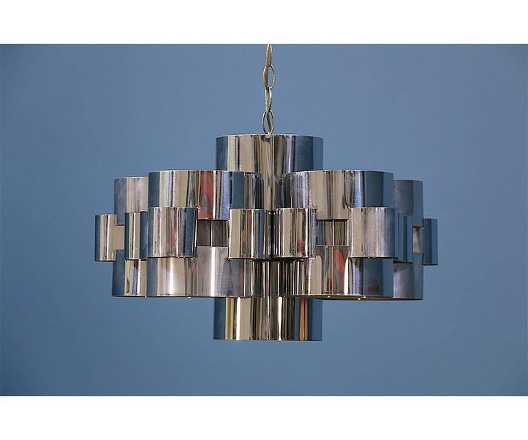 "Curtis Jere ""Cloud"" Chrome Chandelier for Artisan House 3"