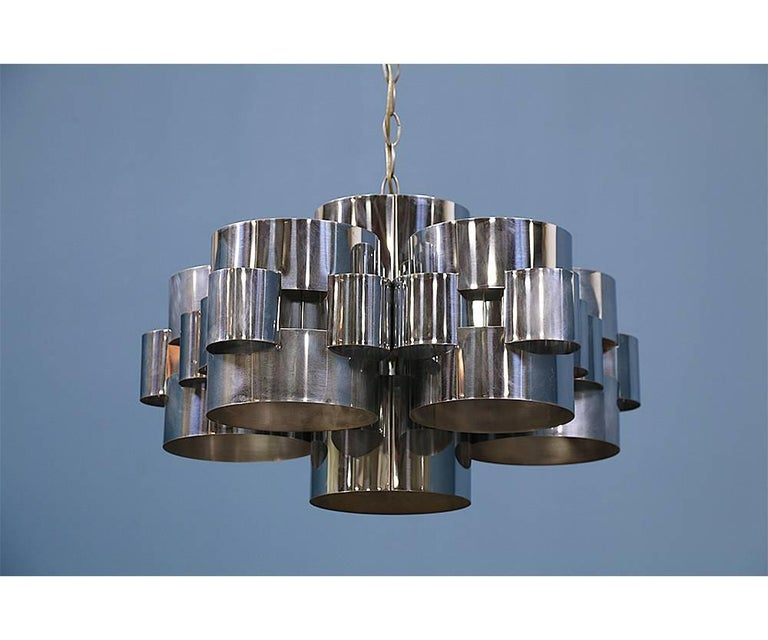 "Curtis Jere ""Cloud"" Chrome Chandelier for Artisan House 4"