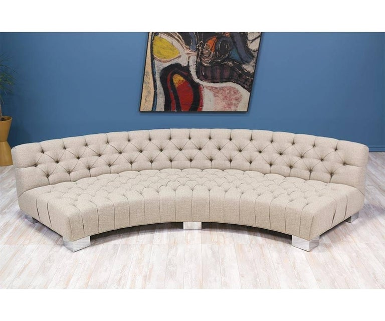 Mid-Century Modern Milo Baughman Diamond Tufted Modular Sofa for Thayer Coggin For Sale