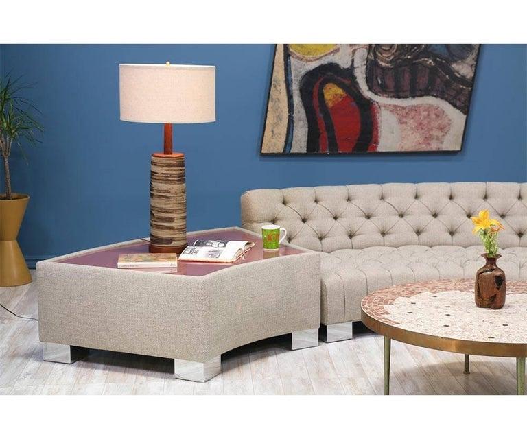 Milo Baughman Diamond Tufted Modular Sofa for Thayer Coggin 4