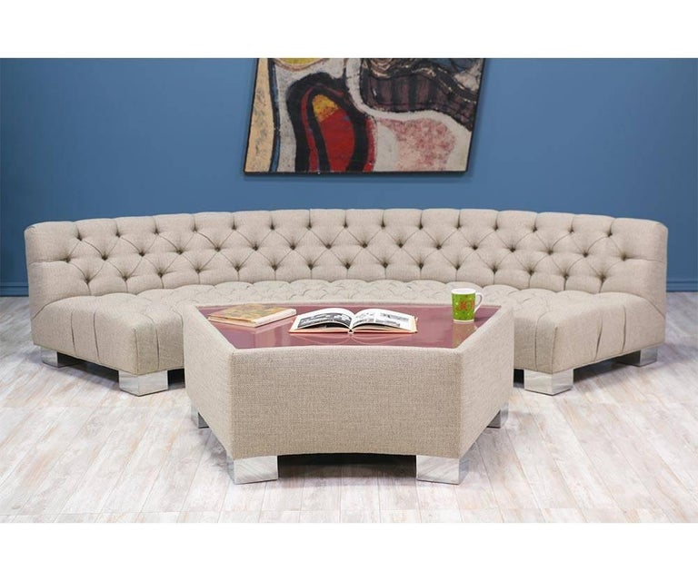Late 20th Century Milo Baughman Diamond Tufted Modular Sofa for Thayer Coggin For Sale