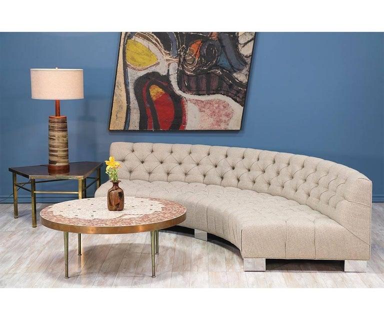 Milo Baughman Diamond Tufted Modular Sofa for Thayer Coggin 7