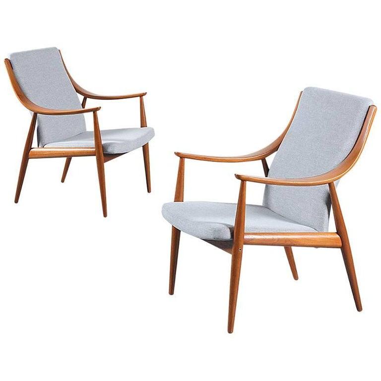 Peter Hvidt & Orla Mølgaard-Nielsen Lounge Chairs for France & Søn