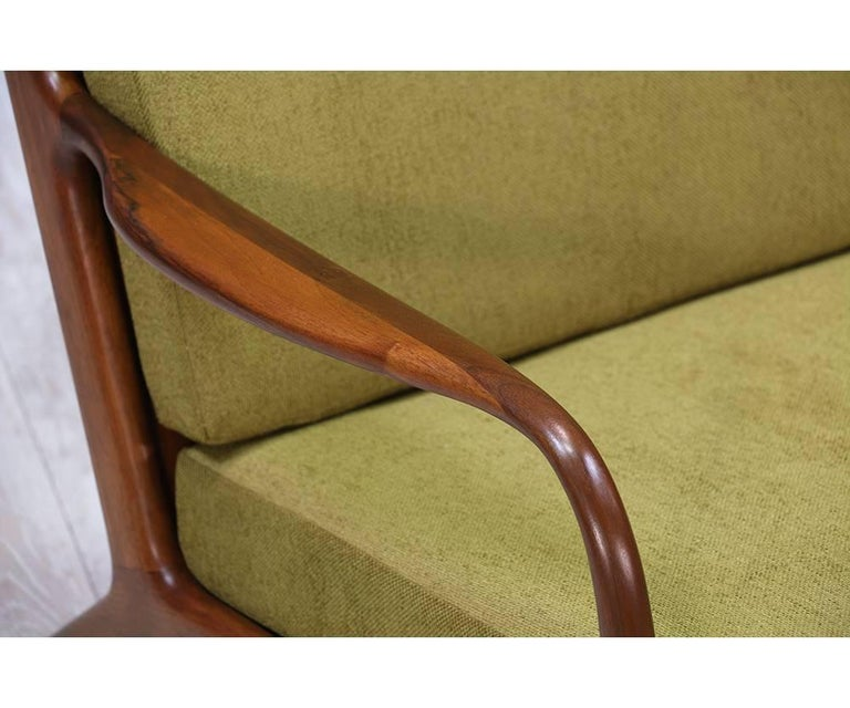 Fabric Adrian Pearsall Walnut Sofa for Craft Associates For Sale