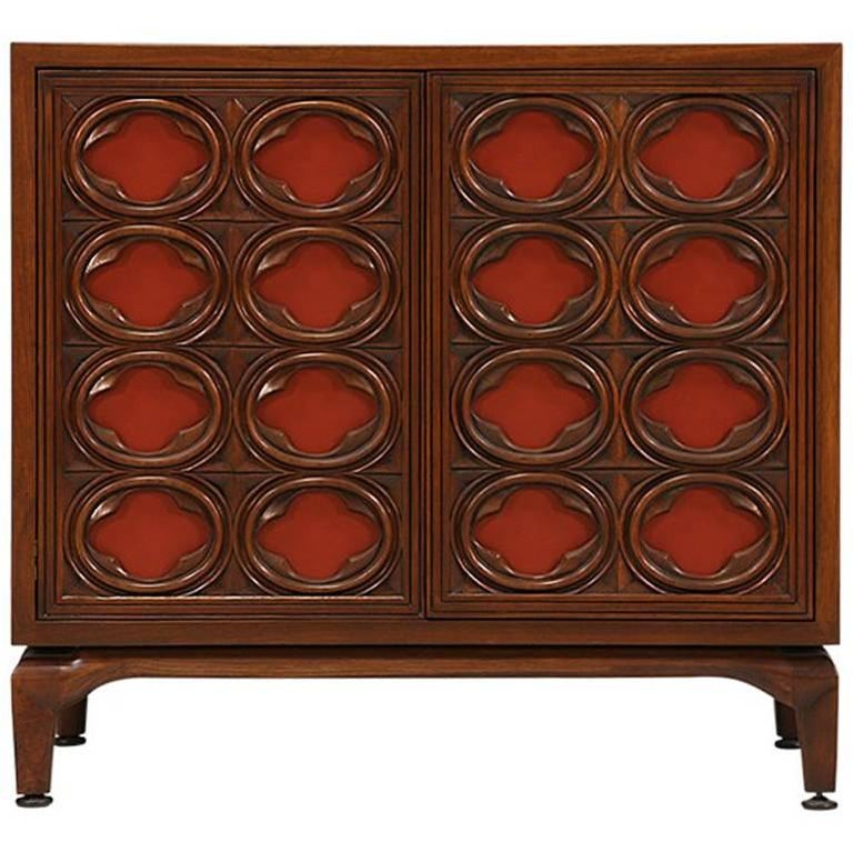 Maurice Bailey Cabinet with Leather Front Doors for Monteverdi-Young