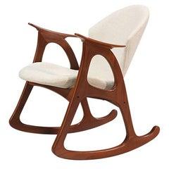 Danish Modern Rocking Chair by Erhardsen & Andersen