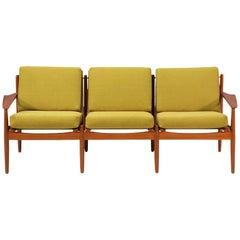 Svend Åge Eriksen Three-Seat Teak Sofa for Glostrup Møbelfabrik