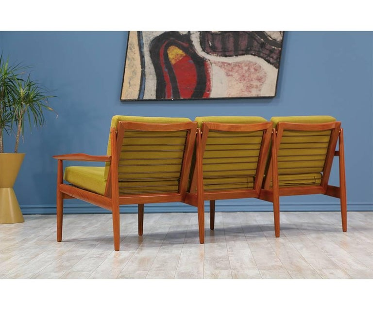 Danish Svend Åge Eriksen Three-Seat Teak Sofa for Glostrup Møbelfabrik For Sale