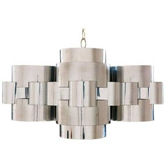 """Curtis Jere """"Cloud"""" Chrome Chandelier for Artisan House"""