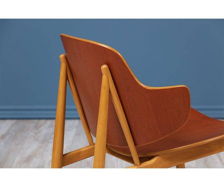 Mid-20th Century Ib Kofod-Larsen Shell Chairs for Christiansen & Larsen For Sale