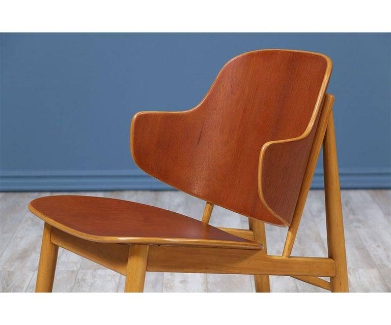 Ib Kofod-Larsen Shell Chairs for Christiansen & Larsen For Sale 1