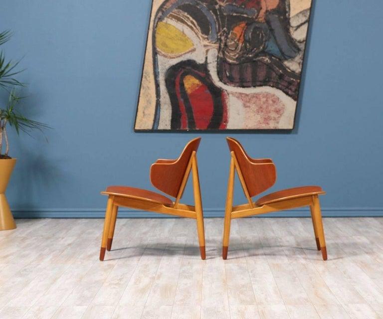Danish Ib Kofod-Larsen Shell Chairs for Christiansen & Larsen For Sale
