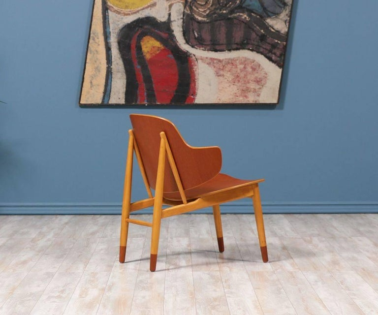 Ib Kofod-Larsen Shell Chairs for Christiansen & Larsen In Excellent Condition For Sale In Los Angeles, CA