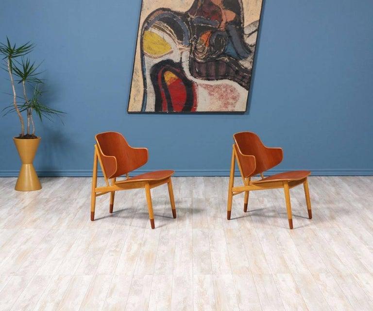 Mid-Century Modern Ib Kofod-Larsen Shell Chairs for Christiansen & Larsen For Sale