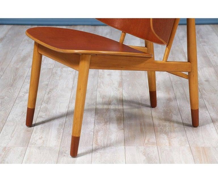 Ib Kofod-Larsen Shell Chairs for Christiansen & Larsen For Sale 2