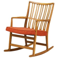 Hans J. Wegner ML-33 Rocking Chair for Mikael Laursen