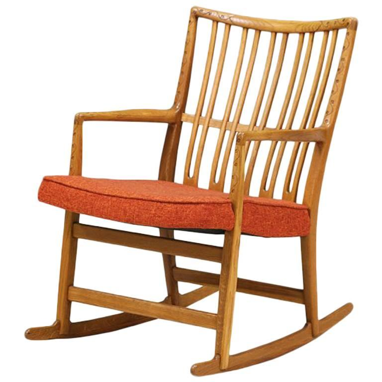 Hans J. Wegner ML-33 Rocking Chair for Mikael Laursen For Sale