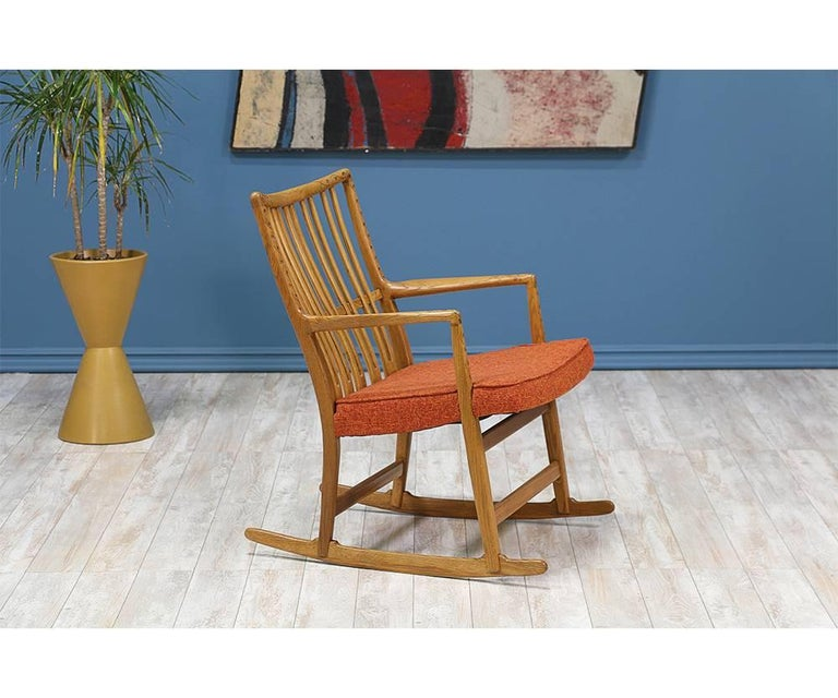 Mid-Century Modern Hans J. Wegner ML-33 Rocking Chair for Mikael Laursen For Sale