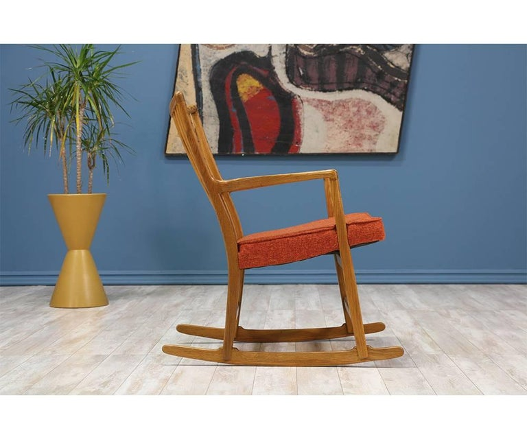 Danish Hans J. Wegner ML-33 Rocking Chair for Mikael Laursen For Sale