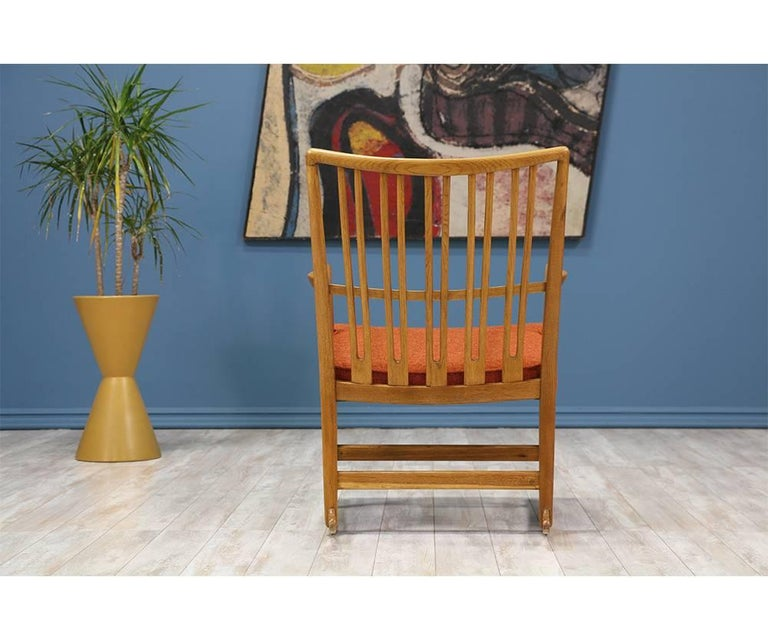 Mid-20th Century Hans J. Wegner ML-33 Rocking Chair for Mikael Laursen For Sale