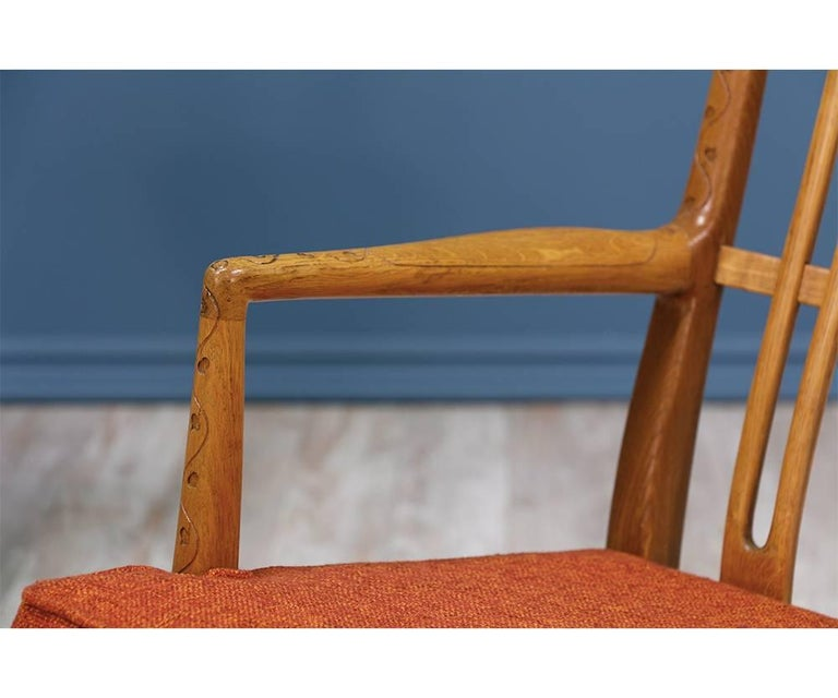 Fabric Hans J. Wegner ML-33 Rocking Chair for Mikael Laursen For Sale