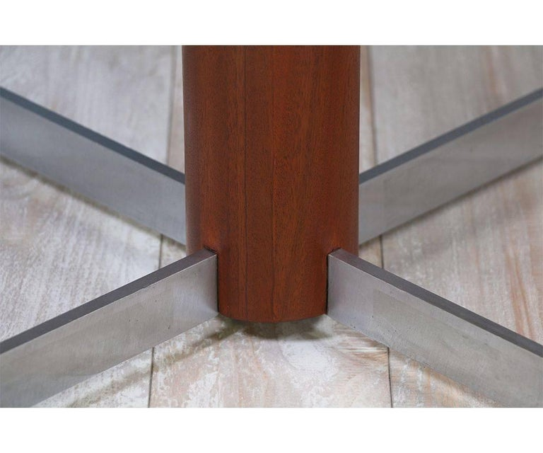 Danish Modern Teak and Steel Height Adjustable Table For Sale 3