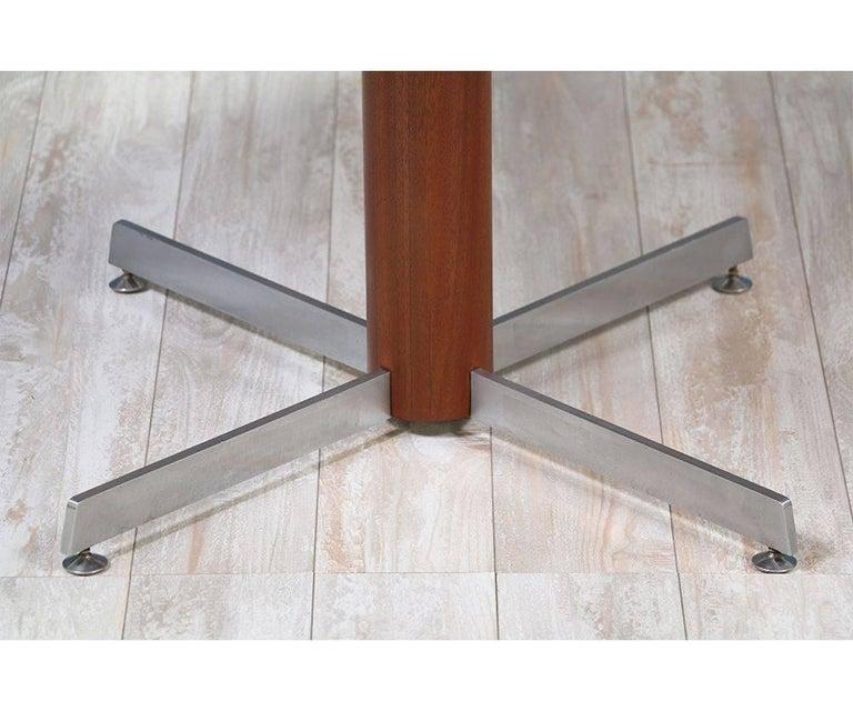 Danish Modern Teak and Steel Height Adjustable Table For Sale 1