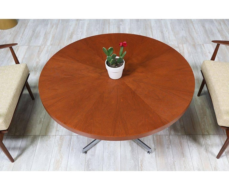 Danish Modern Teak and Steel Height Adjustable Table For Sale 5