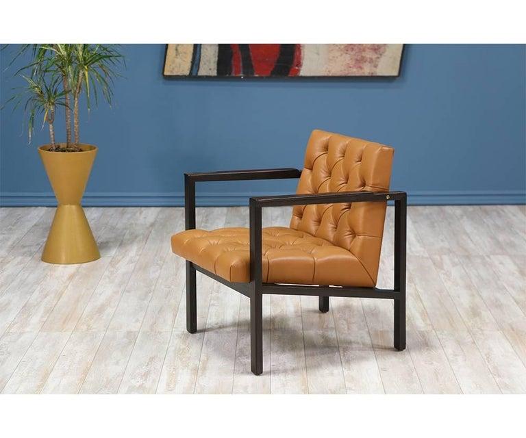 Edward J. Wormley Tufted Lounge Chair for Dunbar 2