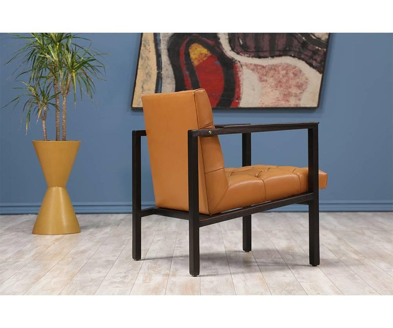 Edward J. Wormley Tufted Lounge Chair for Dunbar 4
