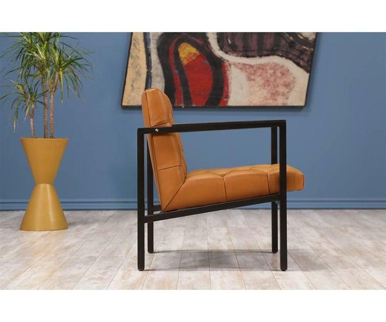 Edward J. Wormley Tufted Lounge Chair for Dunbar 5