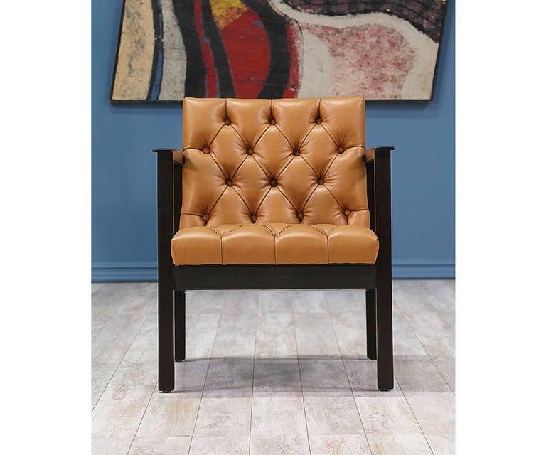 Edward J. Wormley Tufted Lounge Chair for Dunbar 8