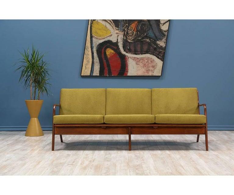 Mid-Century Modern Adrian Pearsall Walnut Sofa for Craft Associates For Sale
