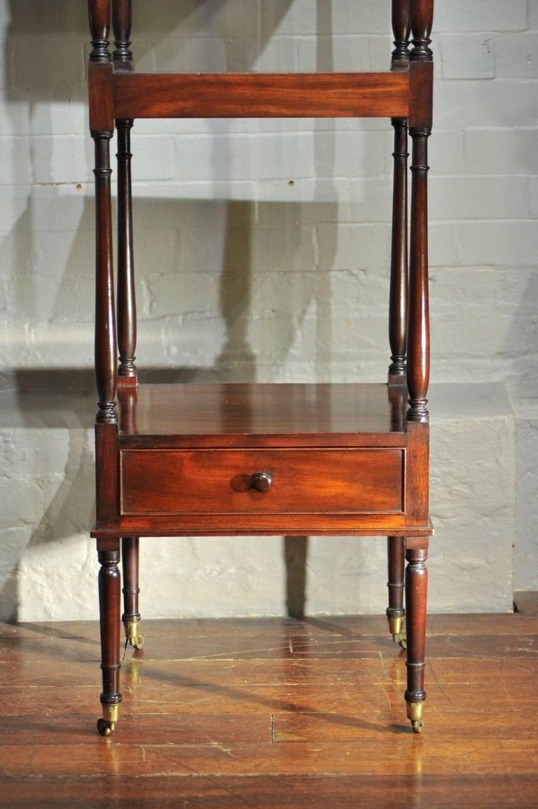Early 19th Century Side Table, Mahogany Shelving, Regency Period In Excellent Condition For Sale In London, GB