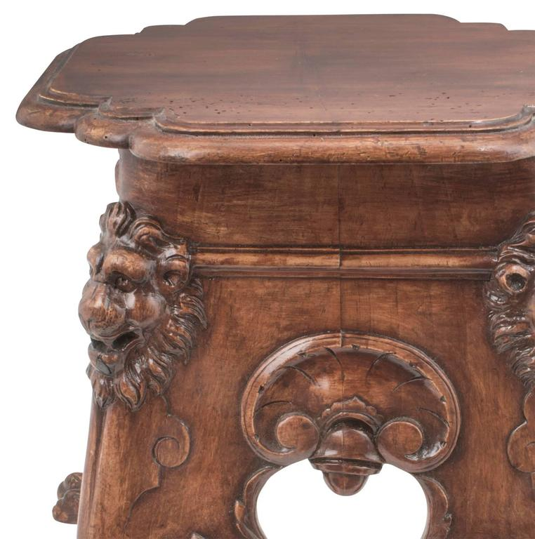 Fabulously Carved Lion Table At 1stdibs