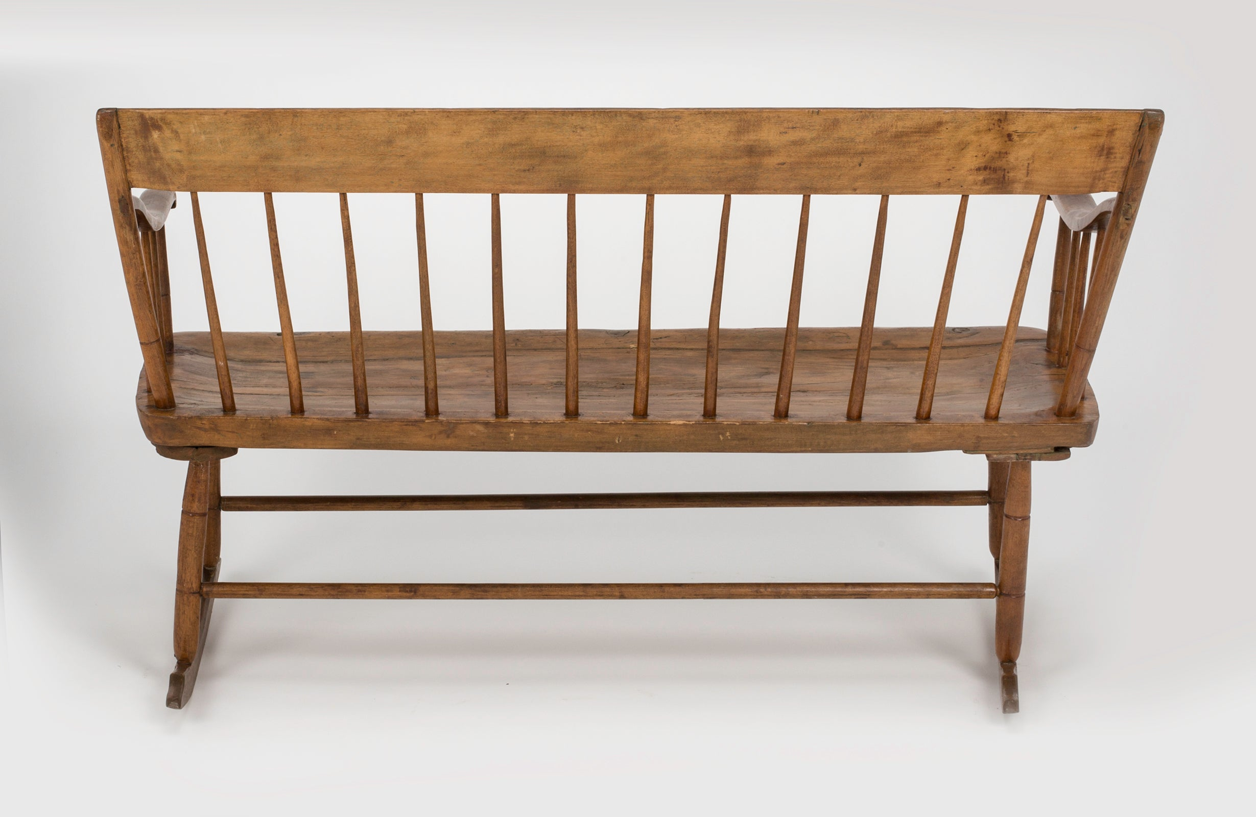 com brown rocking shipping deals kotulas rustic glider bench free welcome wooden