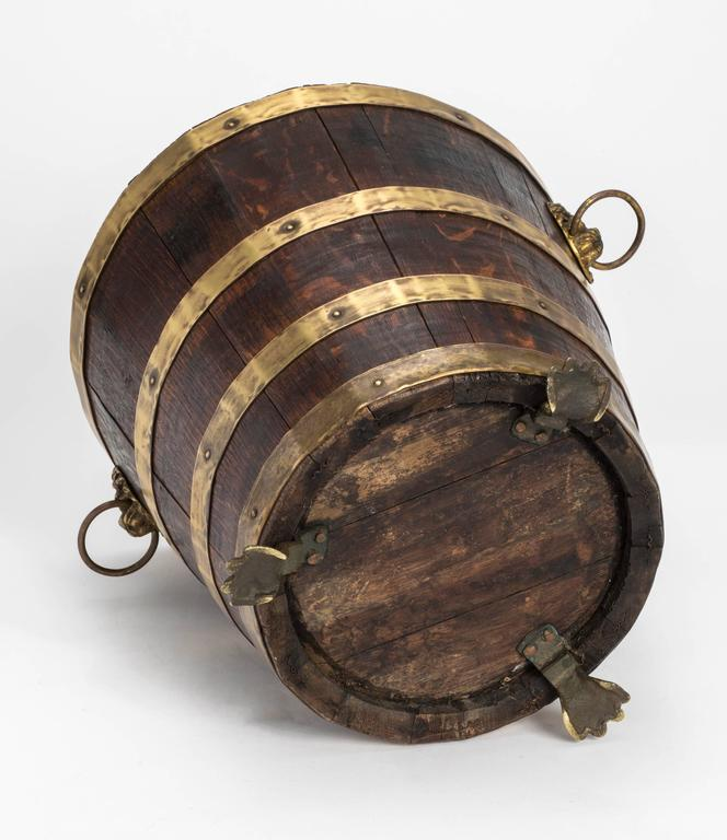 Antique Wood And Brass Bucket At 1stdibs