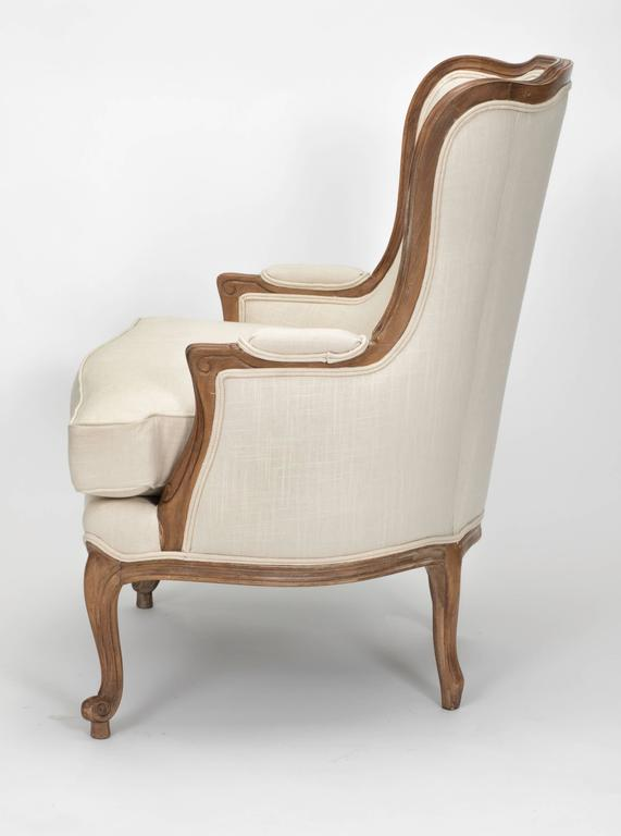 louis xv style wingback armchair for sale at 1stdibs. Black Bedroom Furniture Sets. Home Design Ideas