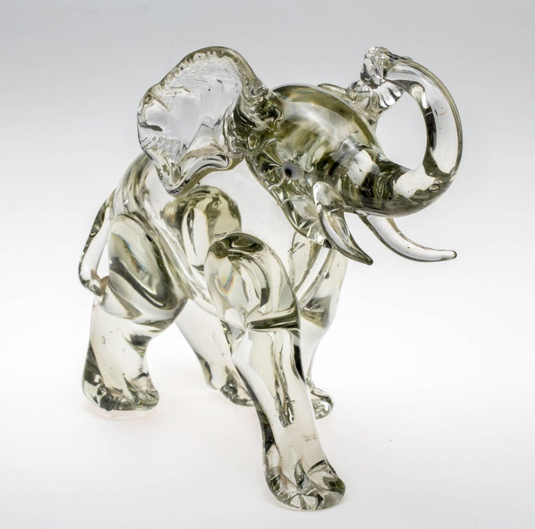 20th Century Murano Glass Elephant Figurine For Sale